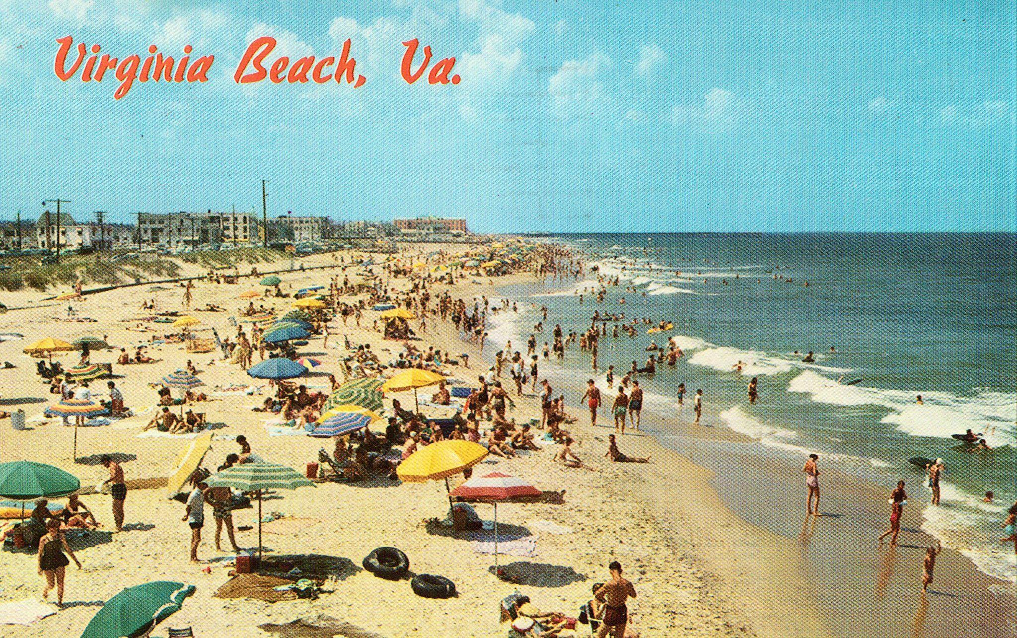 Vintage Virginia Beach Postcards 1964 Norfolk Va Postmark Published By Rowe Distributing Co S 5211 6 Item B4260