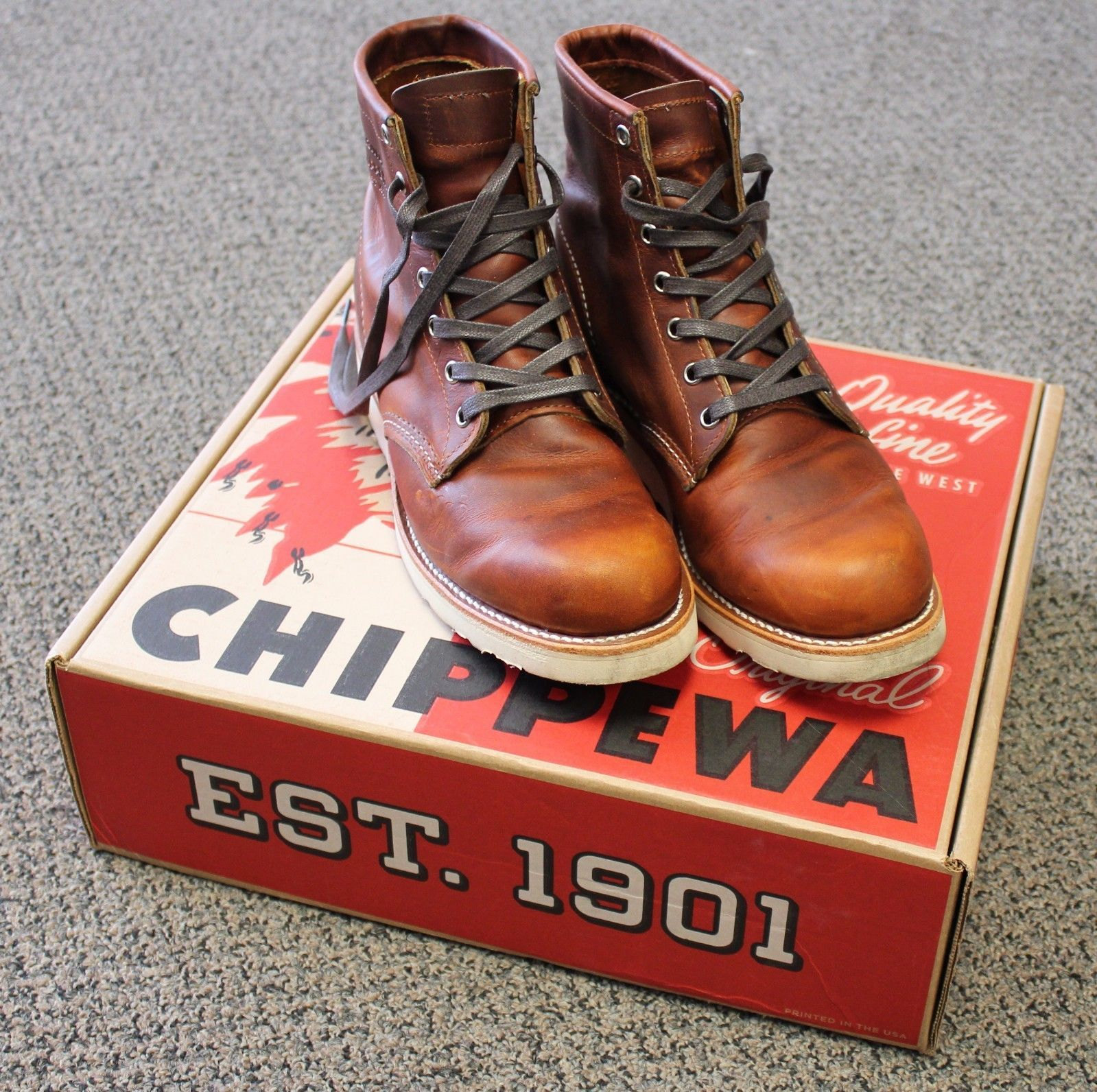 Chippewa 1901m17 Tan Renegade 6 Leather Boots Men S 9 Mens Leather Boots Leather Boots Boots
