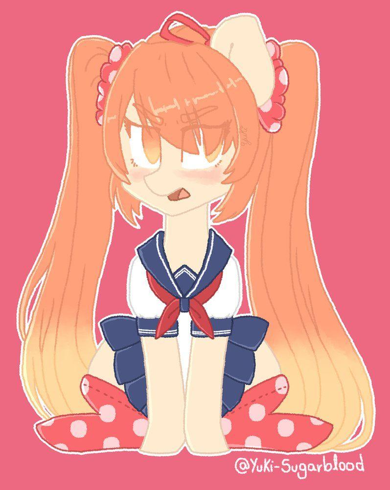 My Little Yandere Osana Najimi Ponified By Yuki Sugarblood On