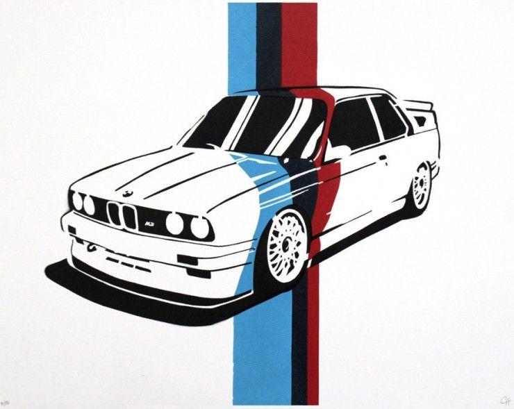 Bmw Poster Series By Manual Designs Car Stuff Bmw E30 M3 Bmw