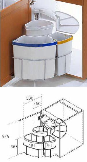 Poubelle Rotative A Tri Selectif Kitchen Pantry Storage Kitchen Interior Smart Kitchen