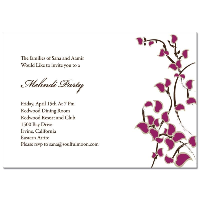Mehndi Party Invitations Asian Stems Places To Visit Pinterest