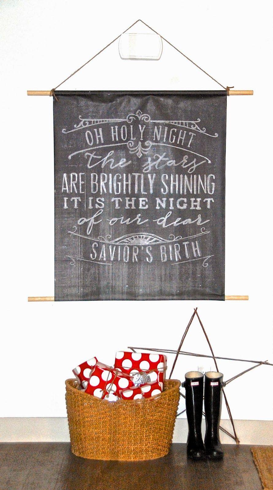 [kreyv][so cheap, so easy] Christmas Poster Hanging