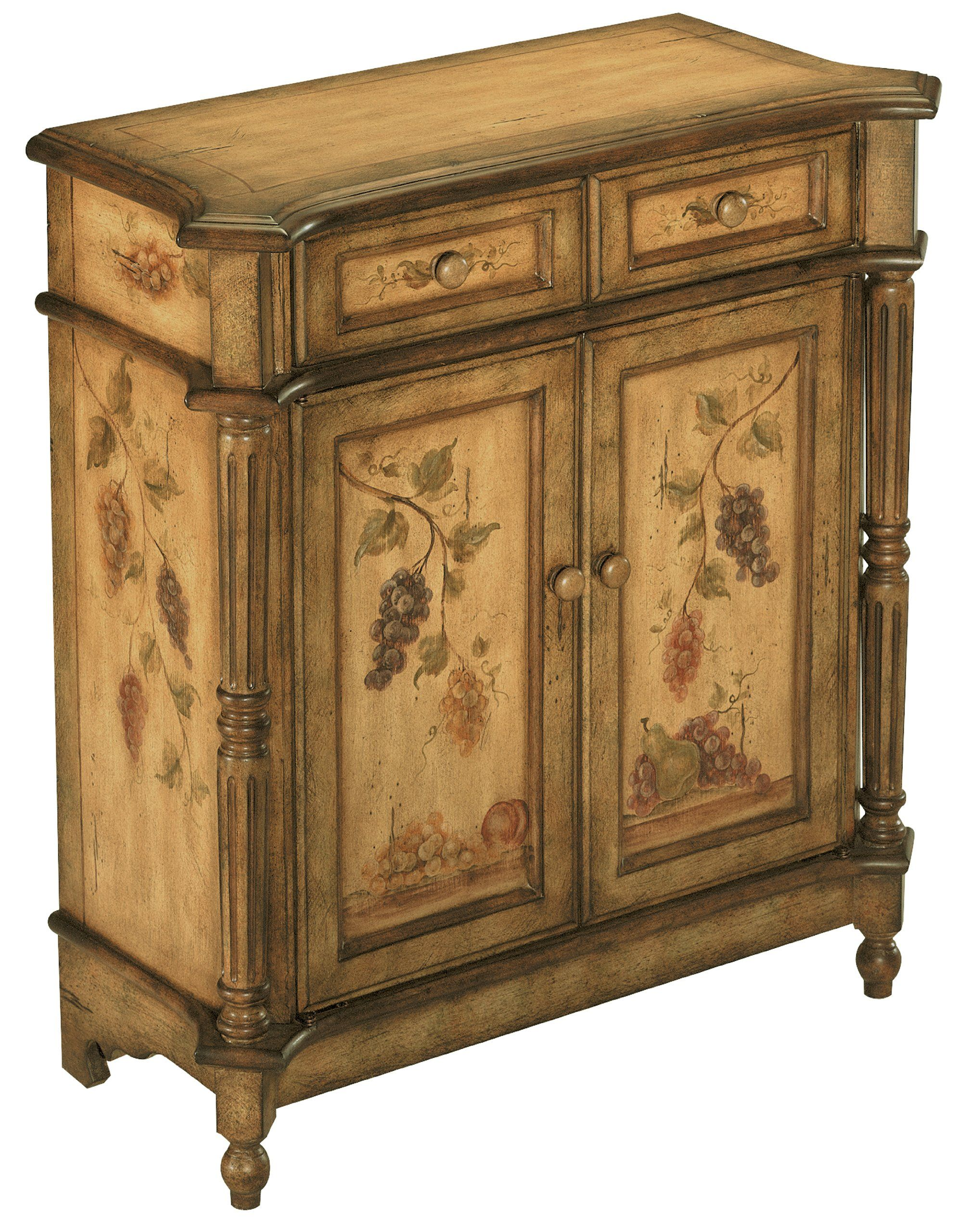 World25 30: Stein World 70285 One Hand Painted Accent Cabinet In