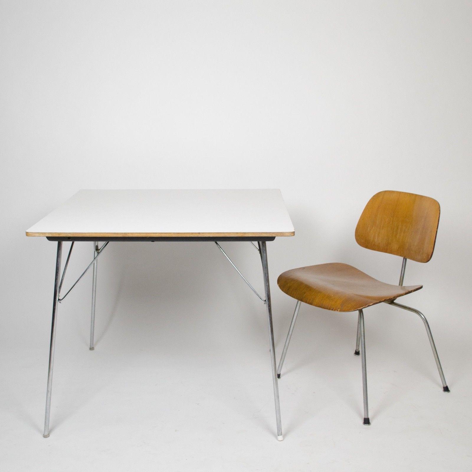 Vintage Eames Hermanmiller Folding Dtm 20 Square Dining Table