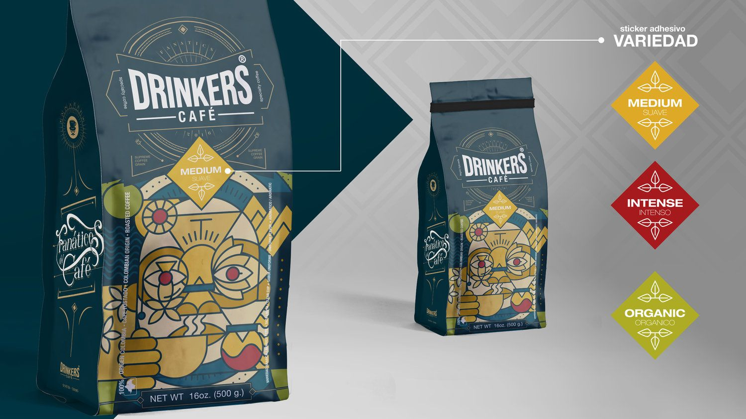 Colombian coffee brand and packaging design for coffee