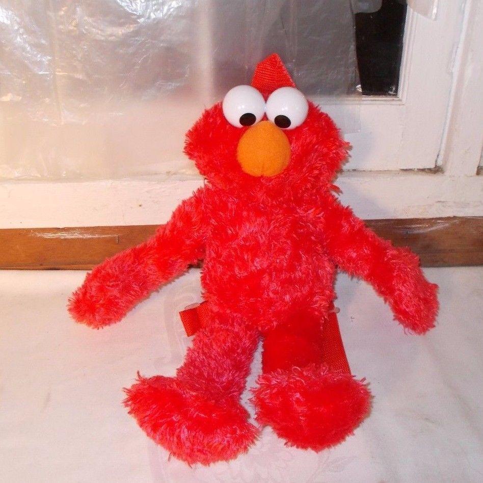 Sesame Street Elmo Backpack Plush #SesameStreet