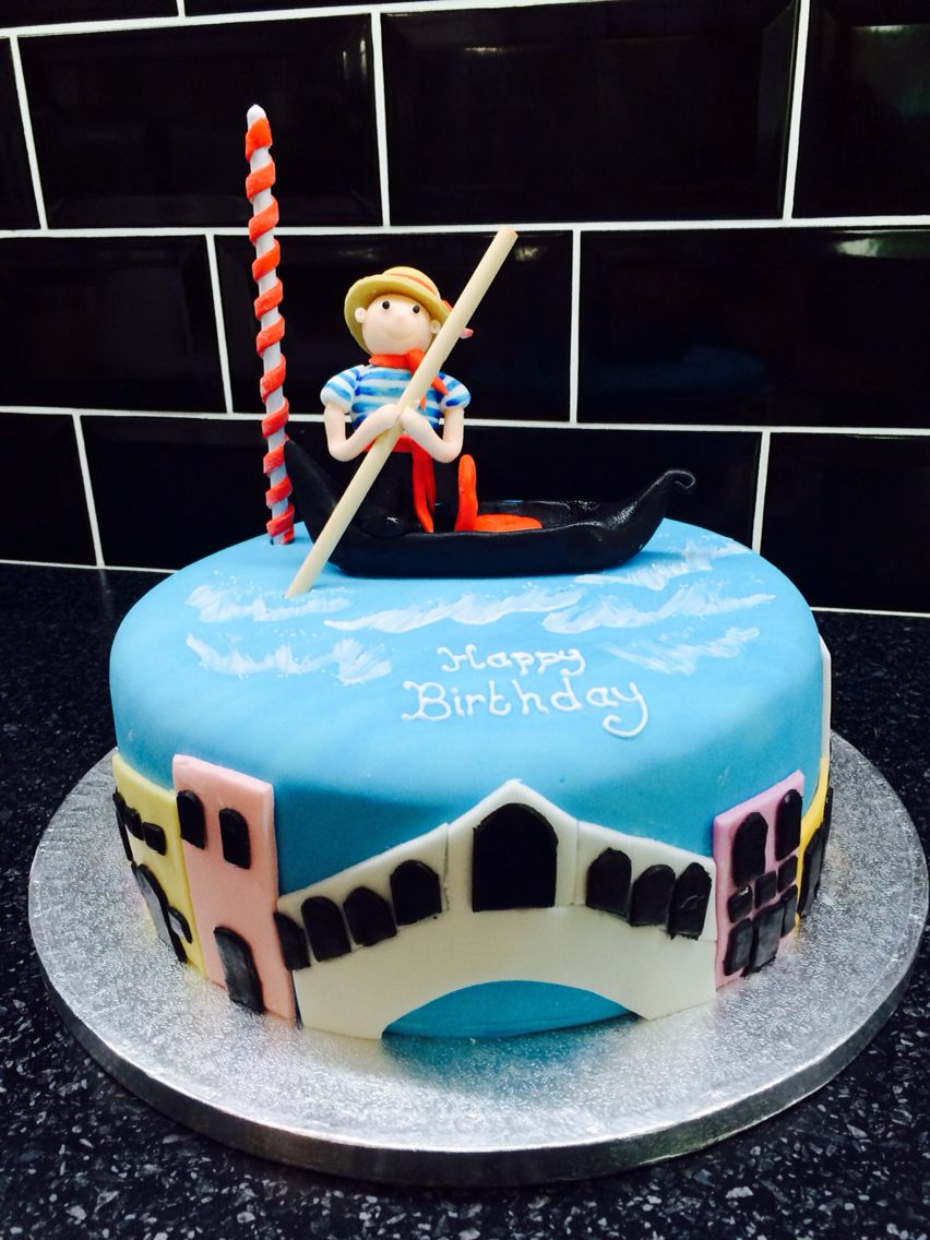 Venice themed birthday cake  Mom gifts in 2019  Birthday