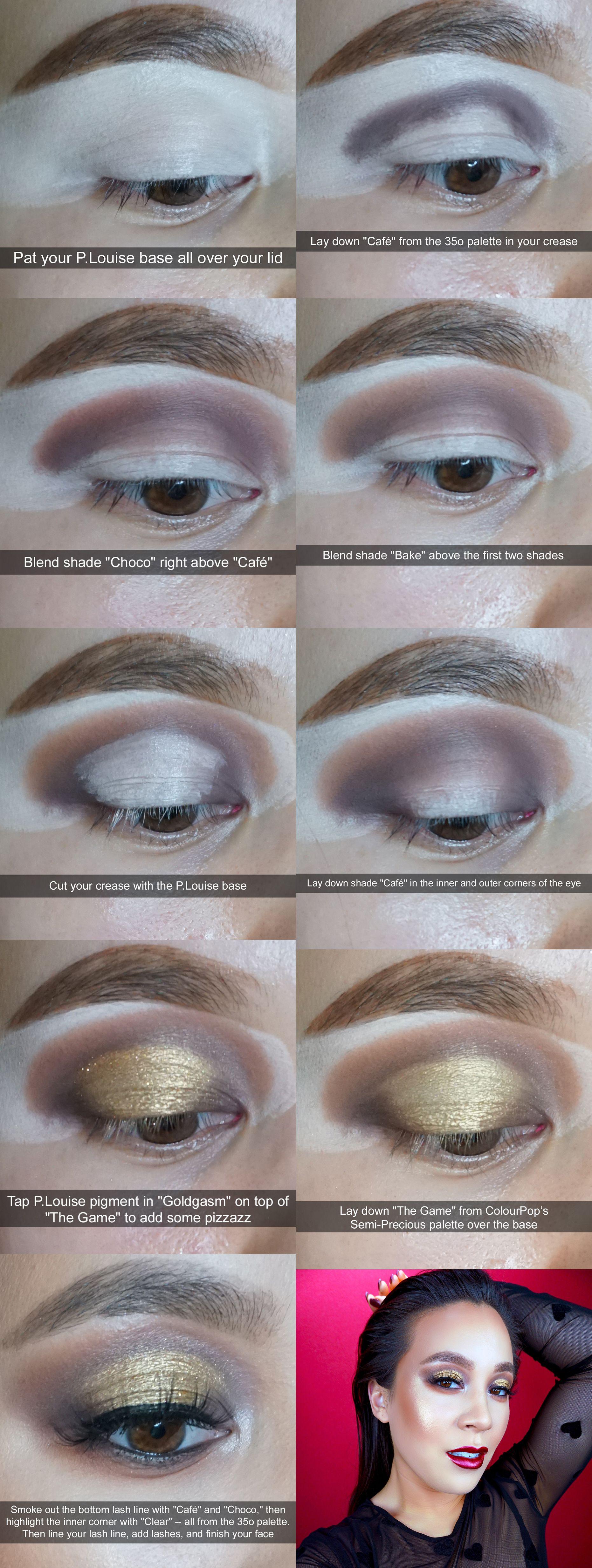 A stepbystep bronze and gold halo eye eyeshadow tutorial