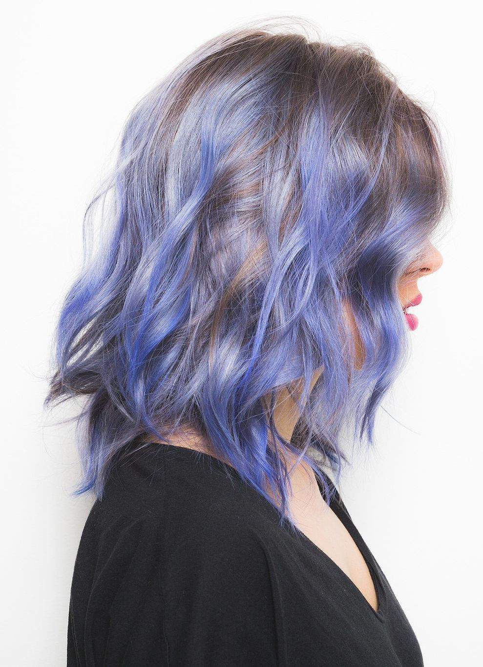 The Truth About Dyeing Your Hair Rainbow Colors  Blue highlights
