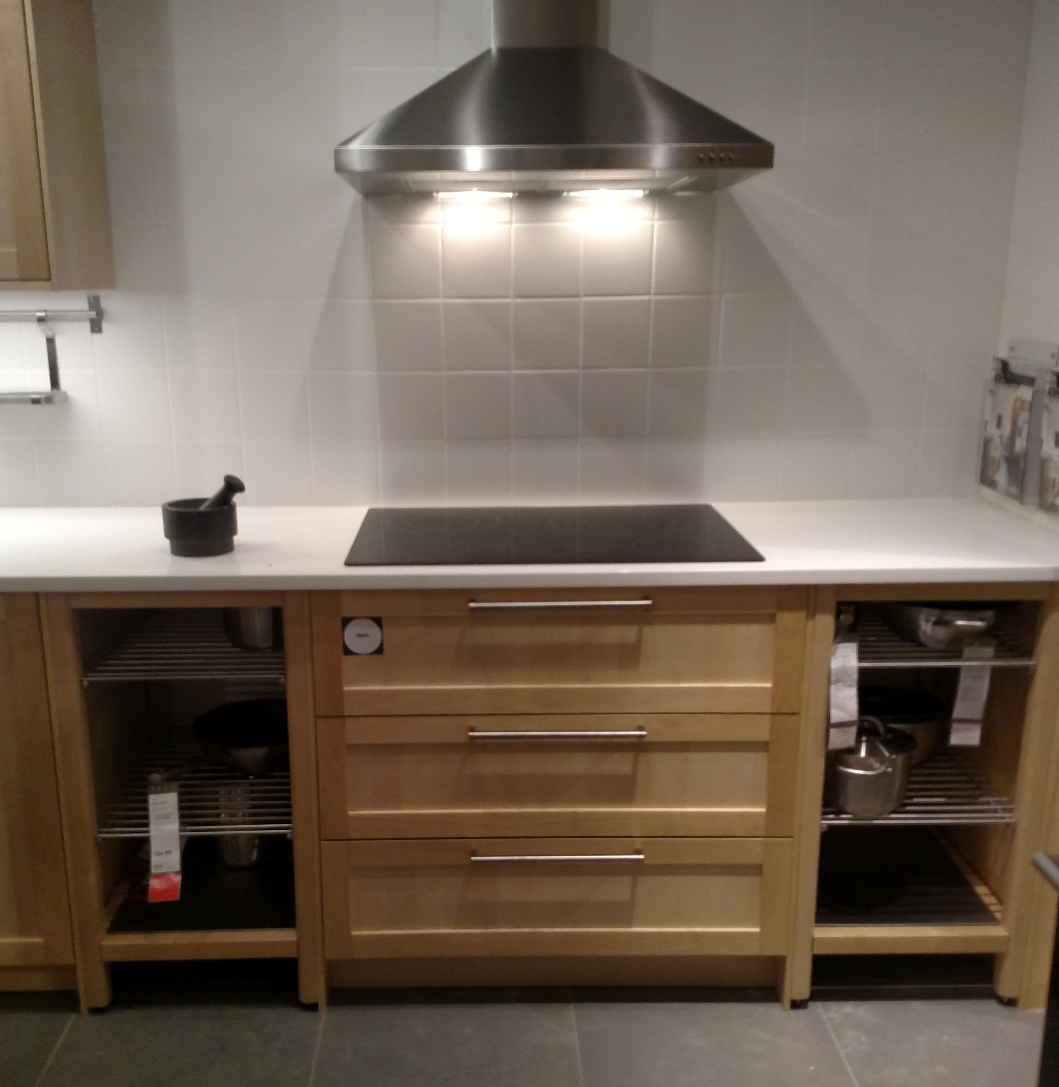 Image result for open shelf base cabinets ikea sektion