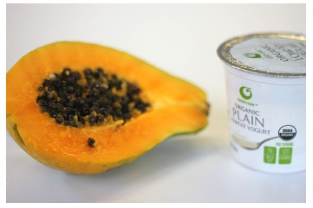 SPLIT END HOMEMADE REMEDY!! Papaya is rich in protein and amino acids, which can help make hair stronger. Mixed with plain yogurt it makes a luxurious hair mask that will make your hair silky smooth and strong. One papaya and 1/2 cup plain yogurt.. Amazing!