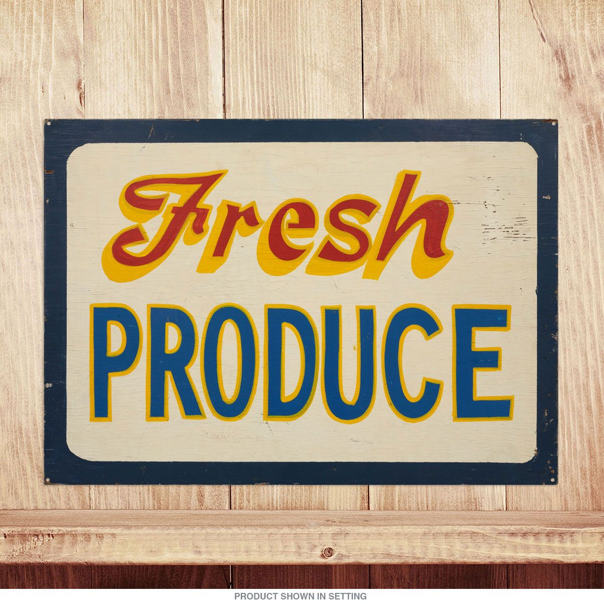 Fresh Produce Vintage Kitchen Metal Sign_D | Food signs, Farm stand ...