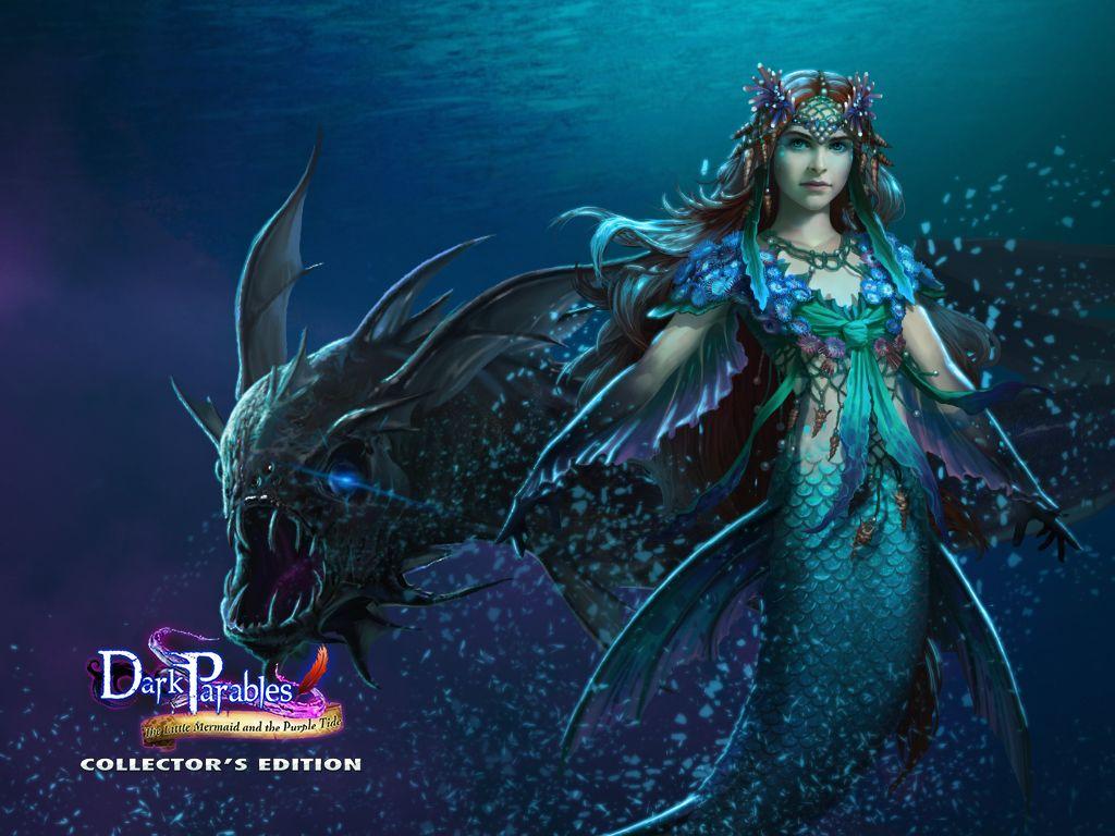 dark parables little mermaid wallpaper 5 mermaids