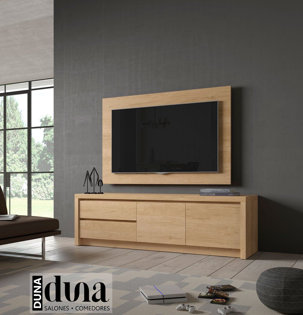 Mueble Tv Pared Mueble Tv Duna Junto A Un Panel Tv En La Pared Paredes Tv En