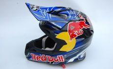 Casque Cross Airoh Déco Red Bull Sur Déco Dorigine Avec Logo Sport