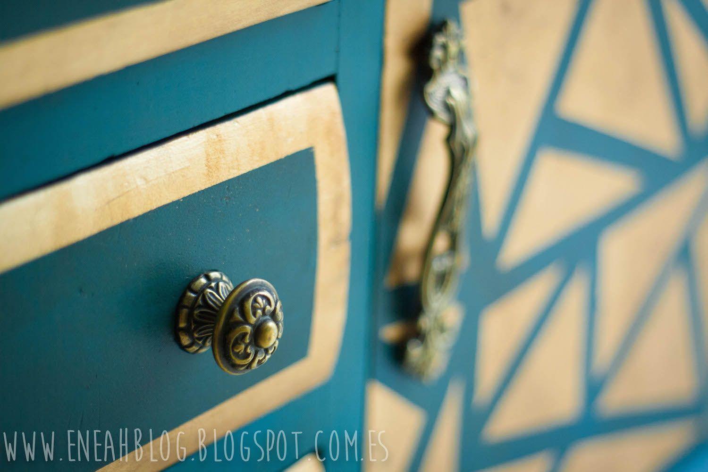 Eneah Blog: Mueble azul con pan de oro. | dorados y plateados ...