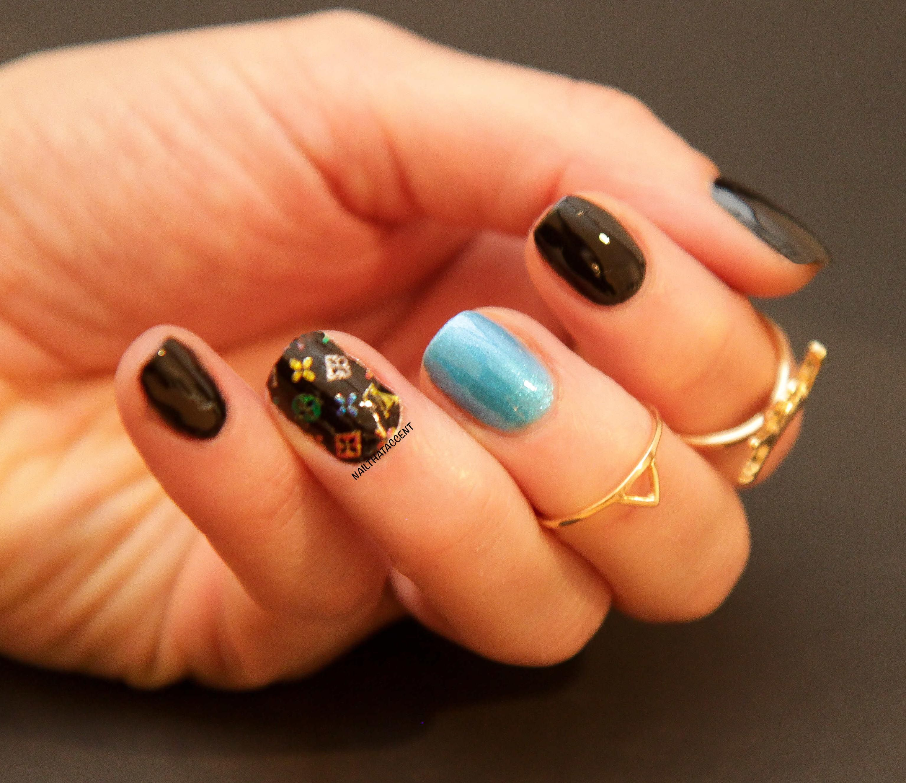 Louis Vuitton nail foils   Anything Goes Nails   Pinterest   Nail ...