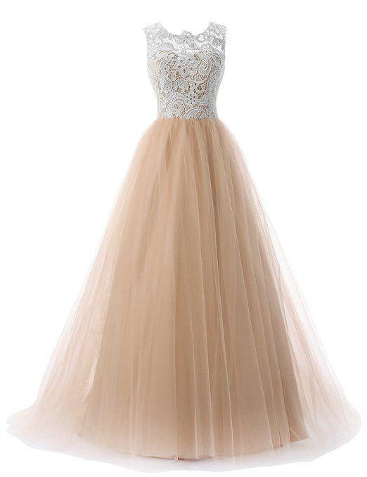 Dressystar Damen Lang A Linie Tull Abendkleid Ballkleid Party Kleider Amazon De Bekleidung Ballkleid Lila Kleid Abendkleid