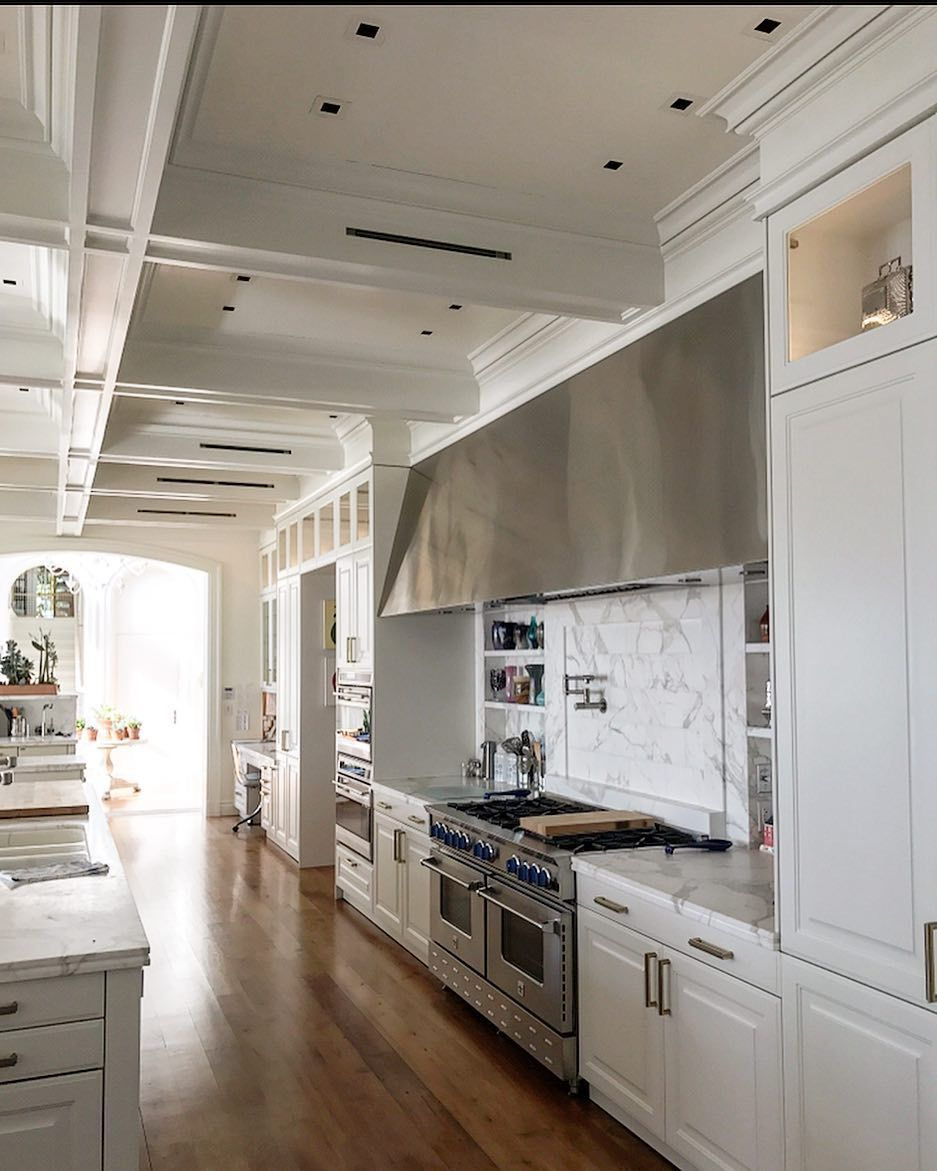 Andy Hanbury On Instagram Custom Kitchen In Palm Beach Woodstile Customcabinets Whitekitchen Woodceiling In 2020 Custom Kitchen Wood Beam Ceiling Custom Cabinets