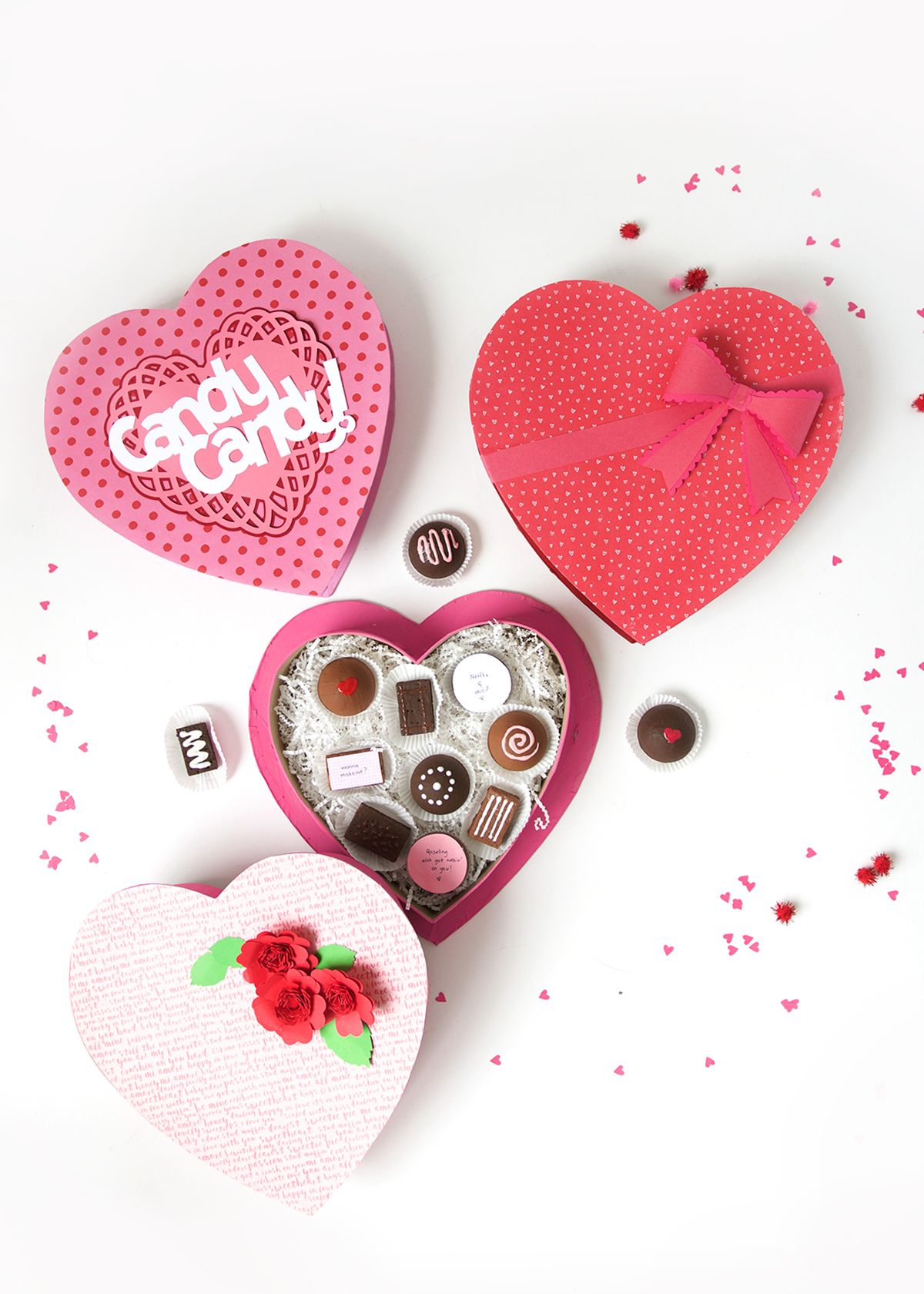 Diy Valentine Box Of Faux Chocolates Valentine S Day Diy