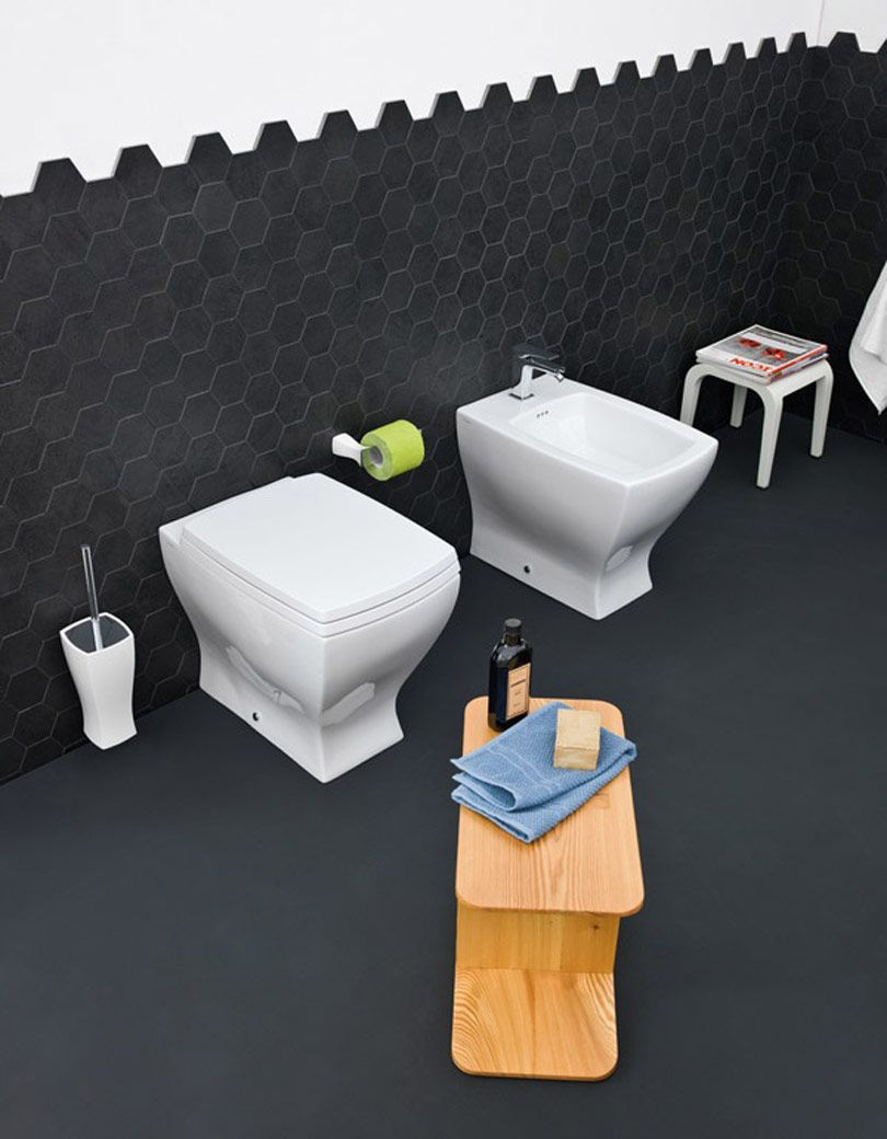 Jazz, design Meneghello #bagno #bathroom #design #decor #white #sanitaryware #Artceram