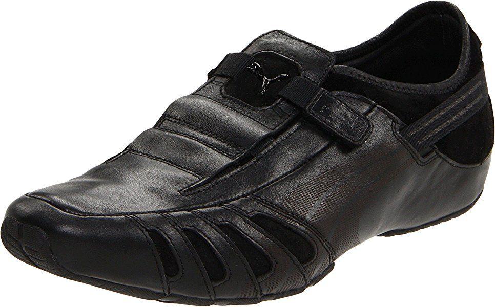 | PUMA Men's Vedano Leather Slip On Shoe, Black