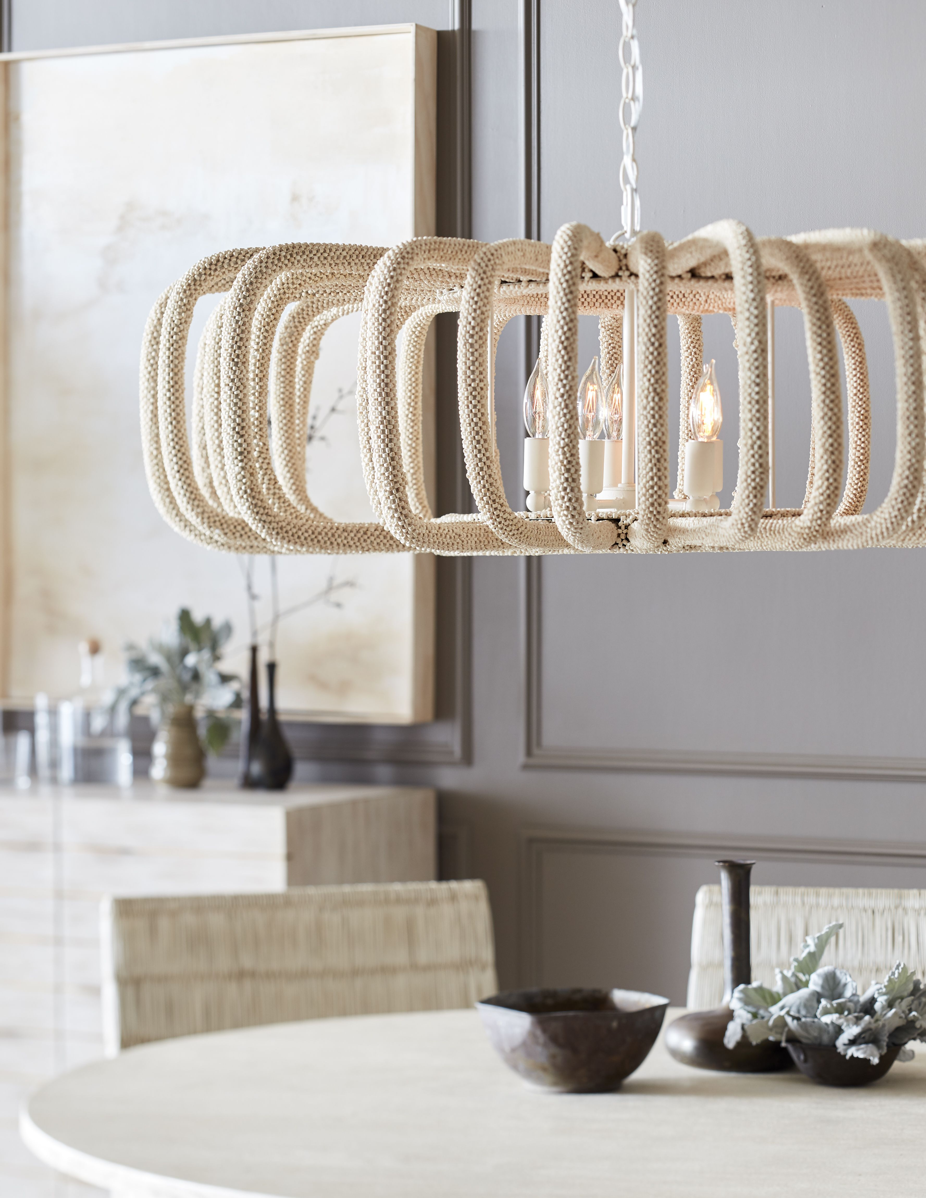 palecek lighting. PALECEK COREY PENDANT Powder Coated Metal Frame Wrapped With Tiny Hand-sewn  Coconut Shell Beads Palecek Lighting
