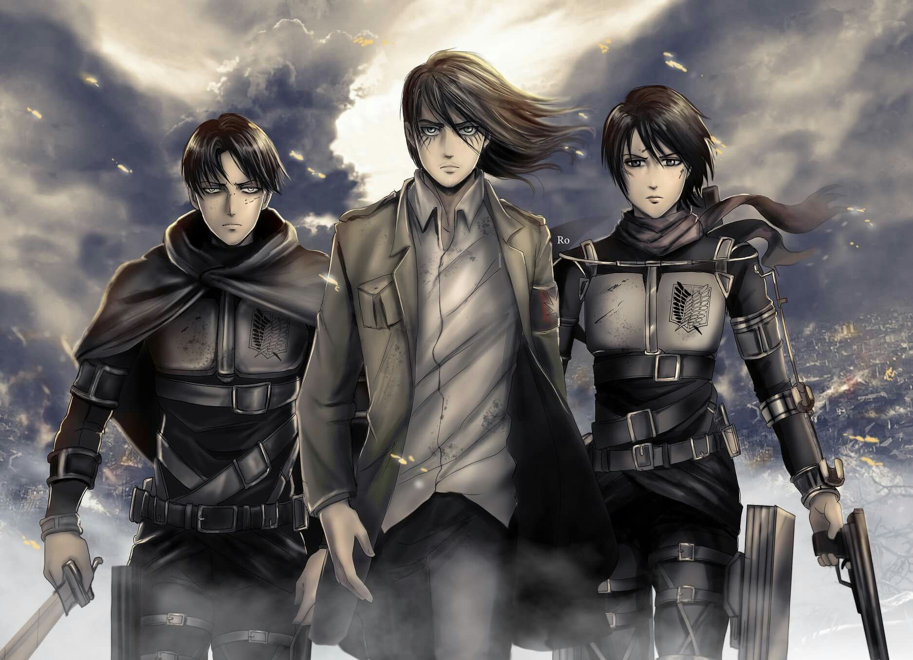 Eren, Mikasa and Levi All grown up and looking even more
