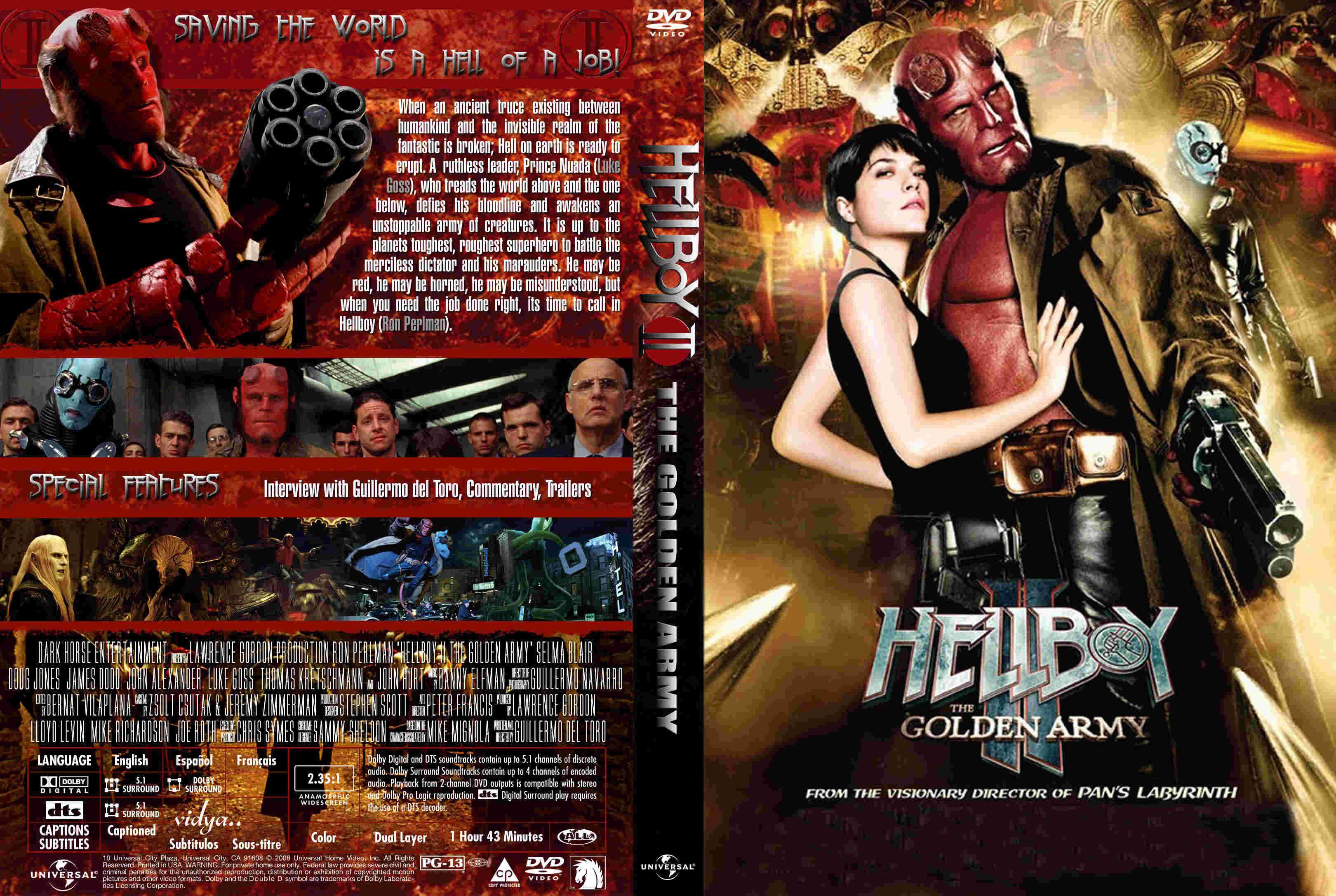 Hellboy the golden army formato dvd peliculas