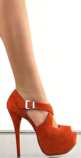 Orange Suede with silver buckle