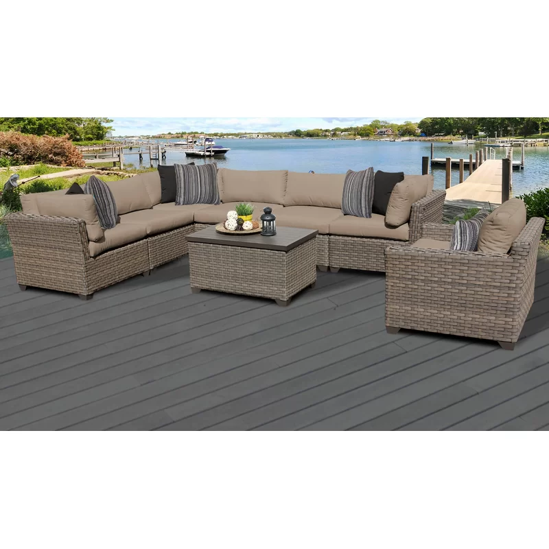 Rochford 8 Piece Sectional Seating Group With Cushions Patio Seating Sets Seating Groups Patio Seating