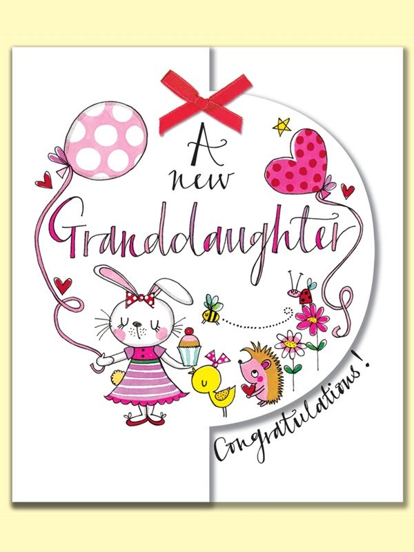 A new granddaughter congratulations greeting card by rachel ellen a new granddaughter congratulations greeting card by rachel ellen designs m4hsunfo Images