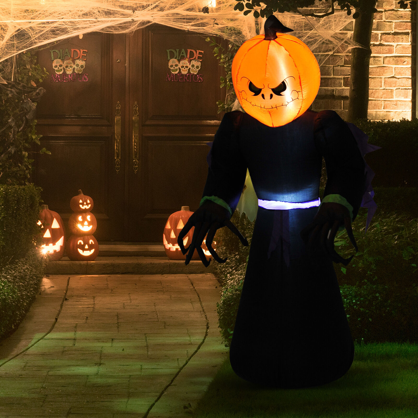 7ft Halloween Airblown Inflatable Pumpkin Reaper Ghost