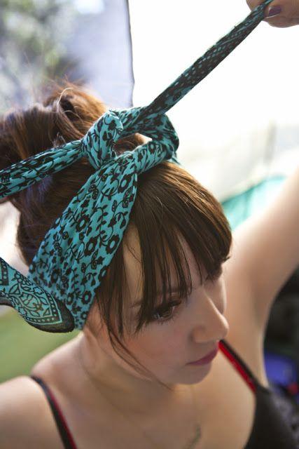 Hair Scarf Coiffure avec foulard, Nouer foulard cheveux