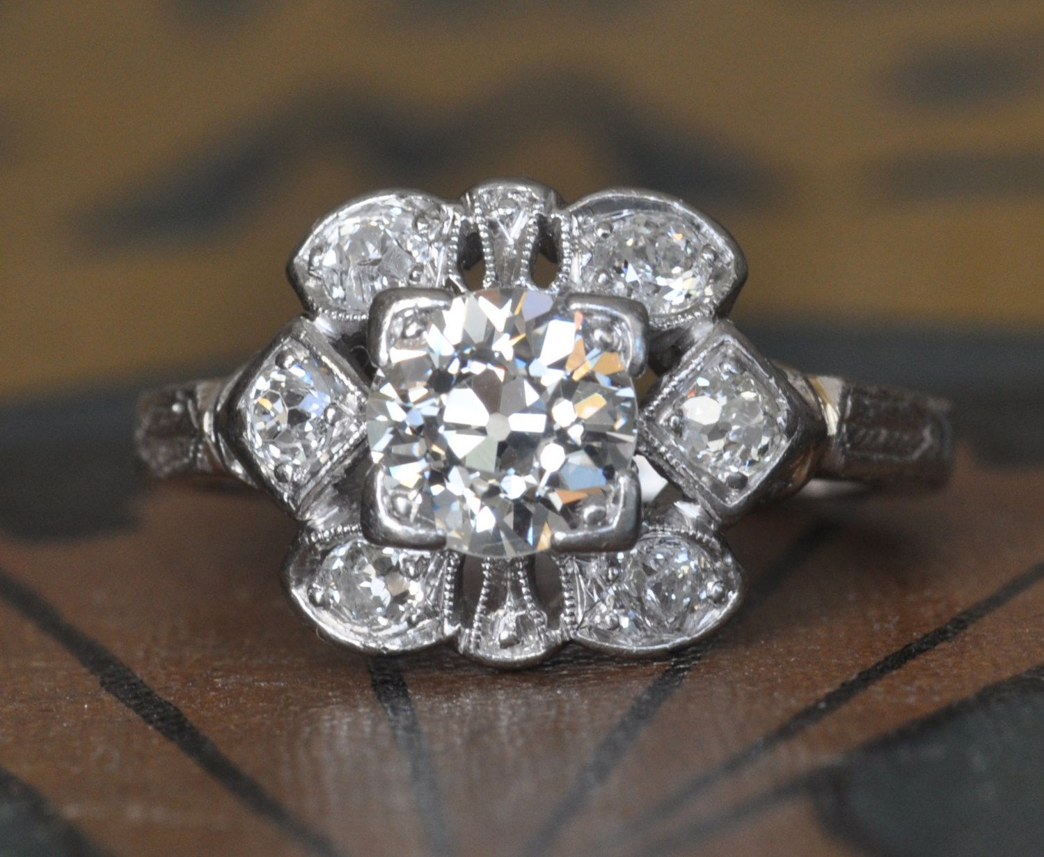 1920s Engagement Ring Vintage Wedding Rings Antique