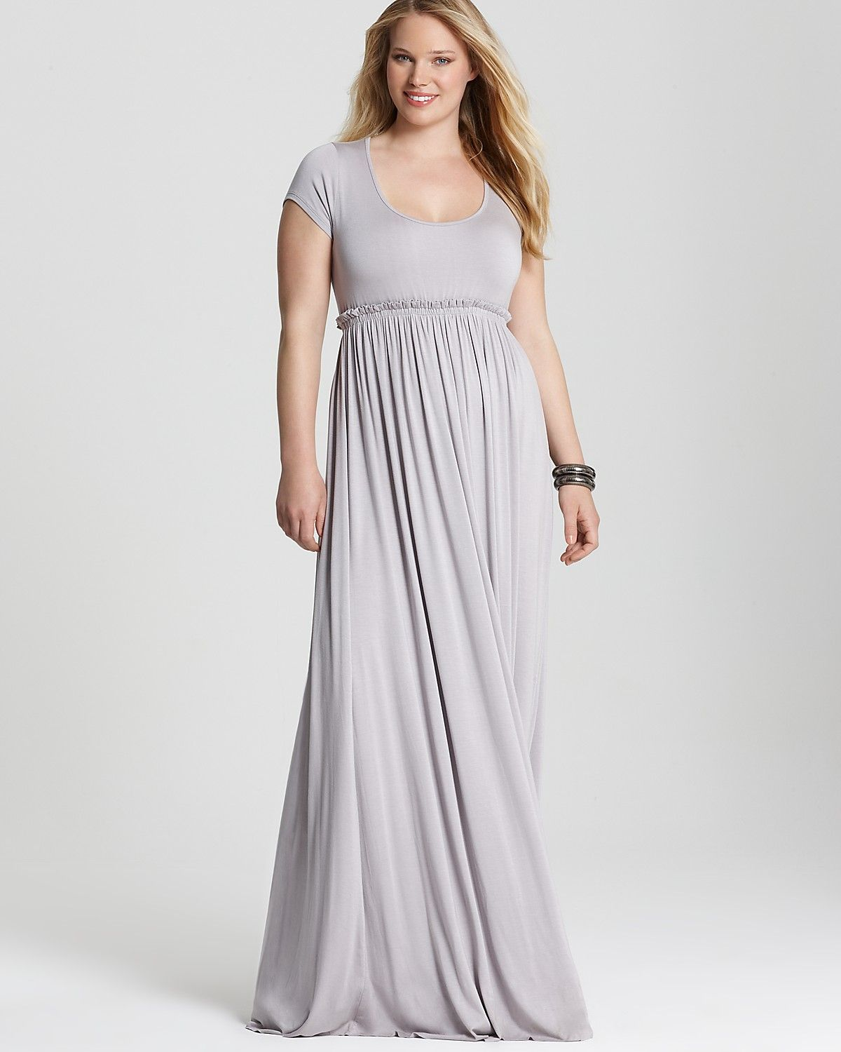 white boat neck short sleeved empire waist maxi dress | Rachel ...
