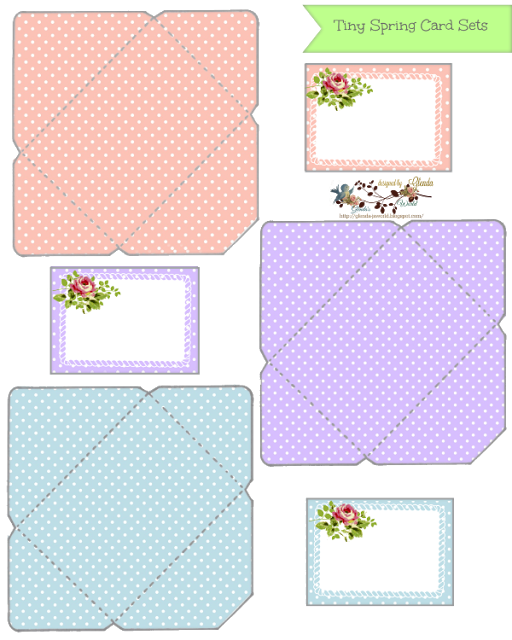 Tiny Spring Note Card Sets Printable Note Cards Notecard Set Note Cards