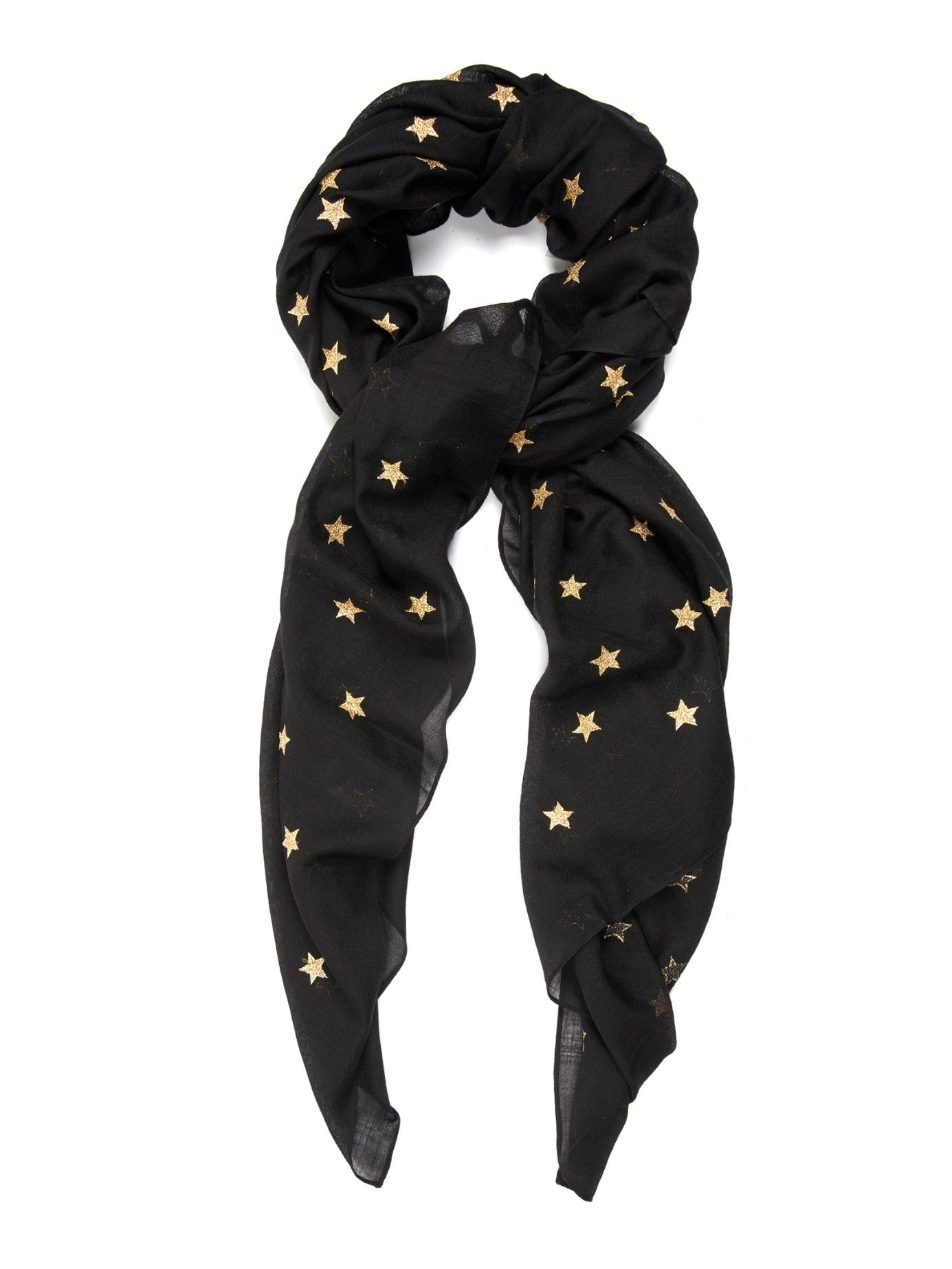 c124468fc Stars wool and silk-blend scarf   Saint Laurent   MATCHESFASHION.COM ...