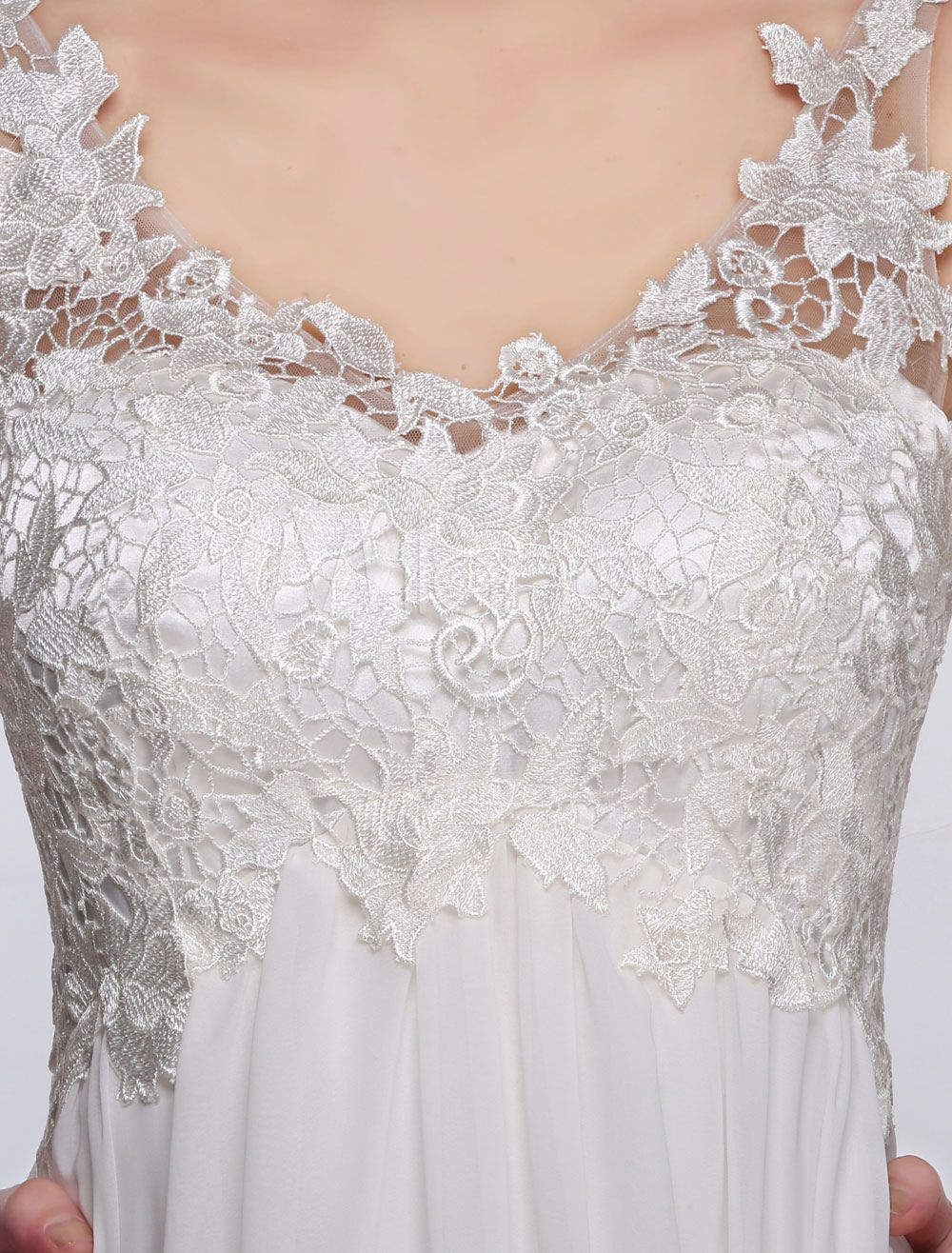 07bf5d6ad838 Short Wedding Dress White Lace Chiffon Sweetheart Summer Wedding Dresses  2018 High Waist Knee Length Bridal