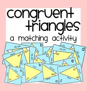 Congruent Triangles Matching Activity & More | | Math • High ...