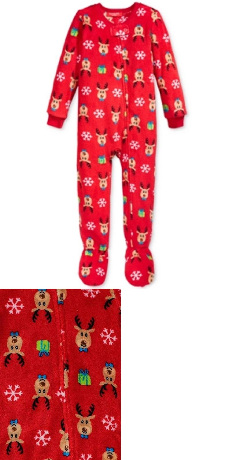df93fe3057 Sleepwear 163400  Family Pajamas Unisex Baby Boys Or Girls Christmas  Reindeer Footed Pj S -  BUY IT NOW ONLY   11.69 on  eBay  sleepwear  family   pajamas ...