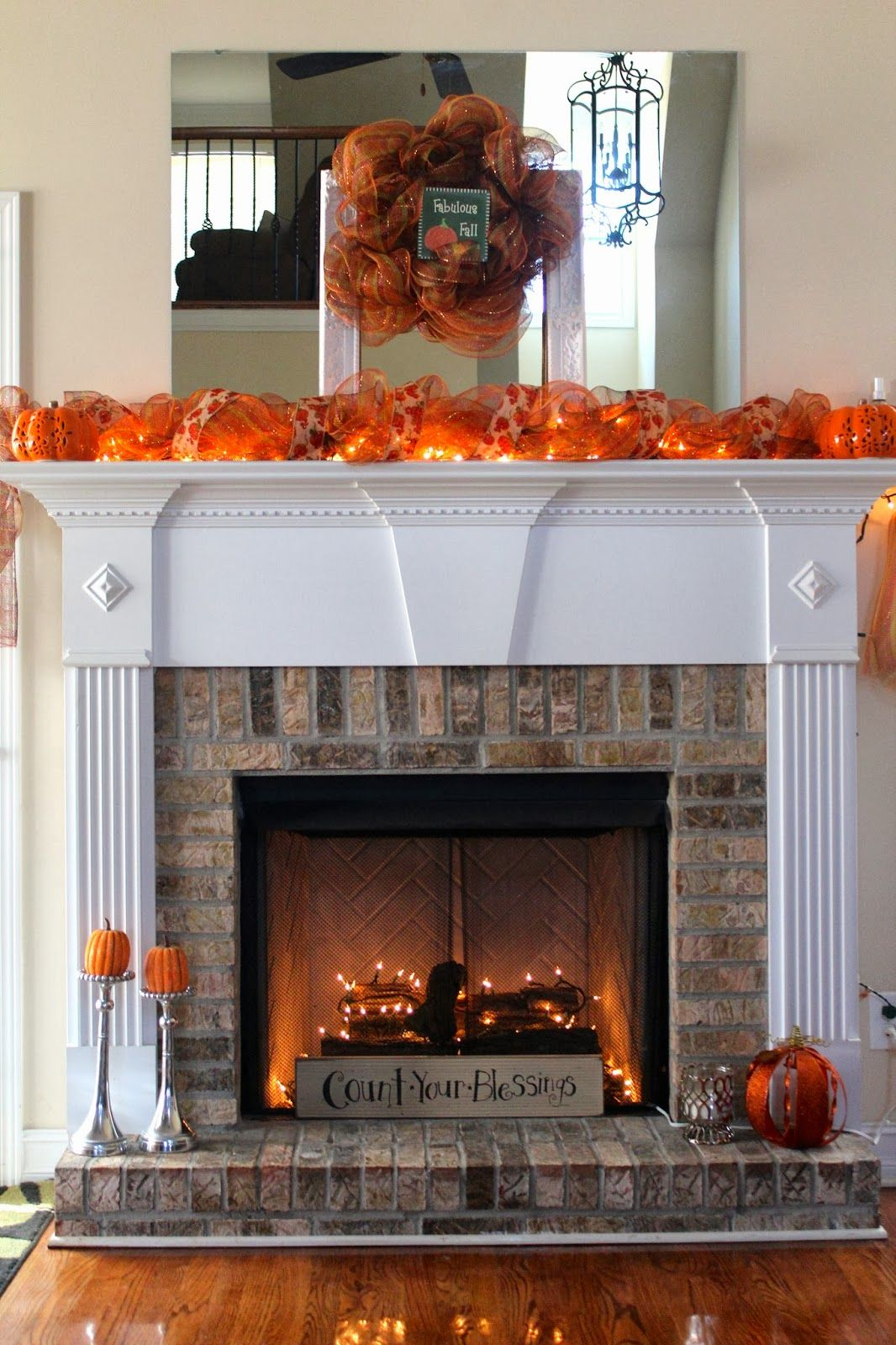 Like The Wood Pile In The Fireplace With The Twinkle Lights Illusion Of Fire Without The Real Thing Think Wa Fall Fireplace Fall Fireplace Decor Fall Decor