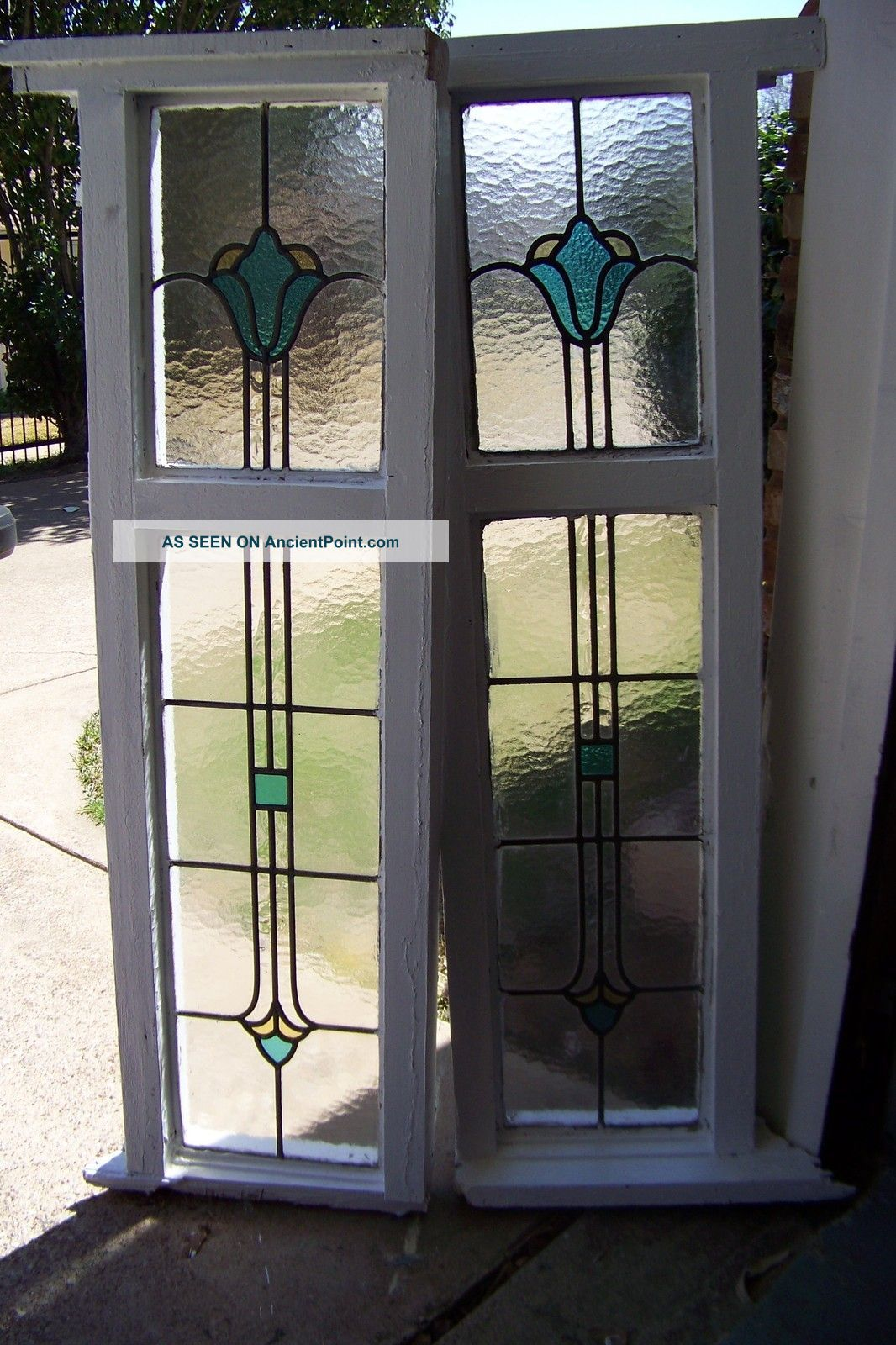 Double Hung Window Stained Glass Double Pane Glass Window