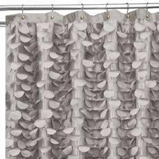 Lush Decor 72 X 72 Gray Polyester Gray Gigi Shower Curtain Bed