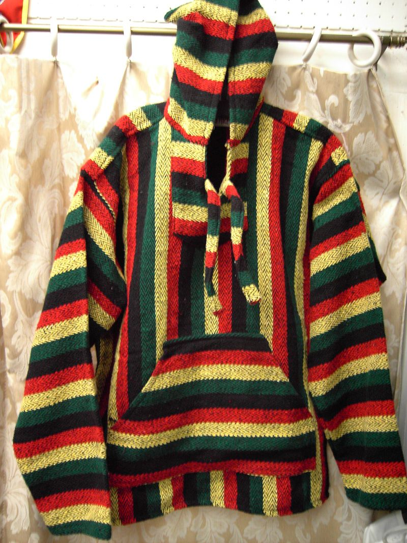 a51495bd8f8 Love Clothing · Bob Marley · Rasta Colored Baja Jacket  19.99 http   www. india-emporium.com