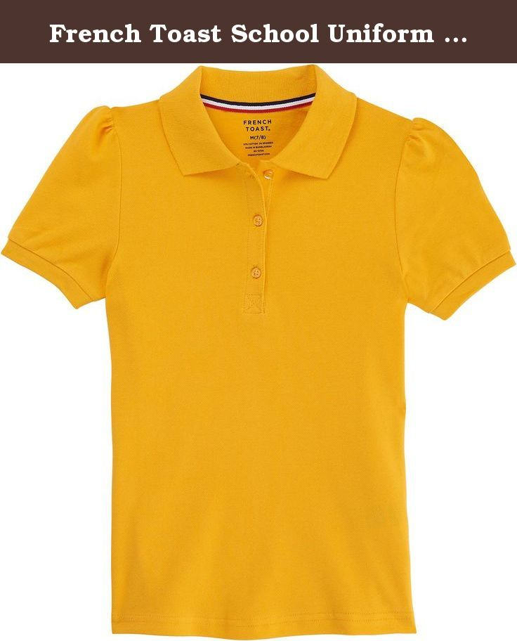 d0856117b French Toast School Uniform Girls Short Sleeve Stretch Pique Polo Shirt,  Gold, Medium (7/8). Our great basic pique polo is updated with a bit of  lyrca for ...