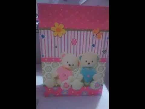 Organizador para bebe utilizando bolsa de regalo y carton - YouTube