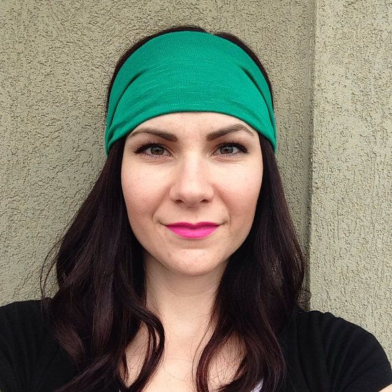 Kelly Green Head Wrap Headband OR Turban on Etsy, $10.99