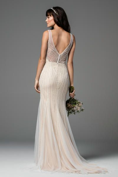 Cream embellished wedding gown: http://www.stylemepretty.com/2016/10/12/willowby-by-watters-bridal-week-fall-2017-wedding-dresses/ Photography: Courtesy Willowby by Watters - https://www.watters.com/willowby/